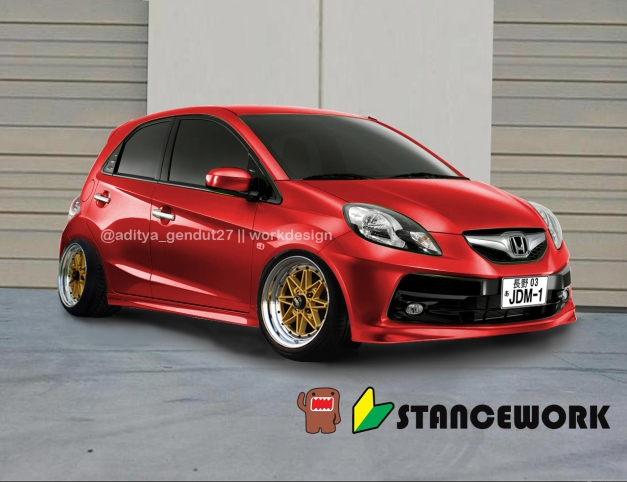 Honda brio Red Metalic