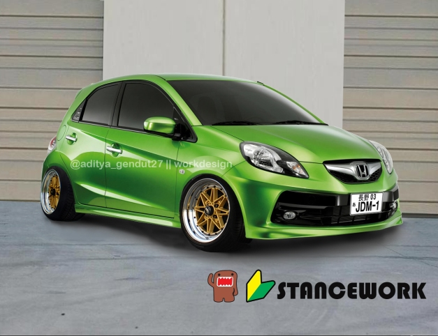 Honda brio Fresh Lime Green Metallic